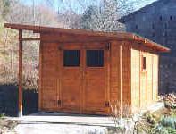 Casette in legno casette da giardino for Casetta con avvolgente portico