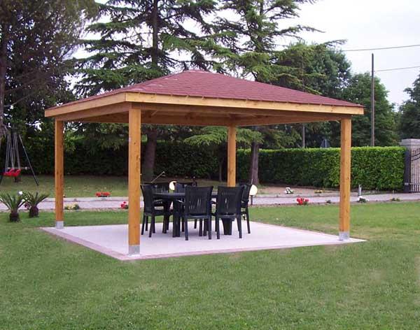 Gazebo in legno for Costruire un gazebo in ferro