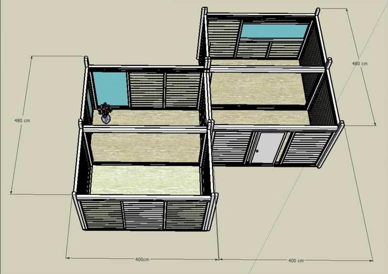 Case in legno for Una pianta della casa di legno