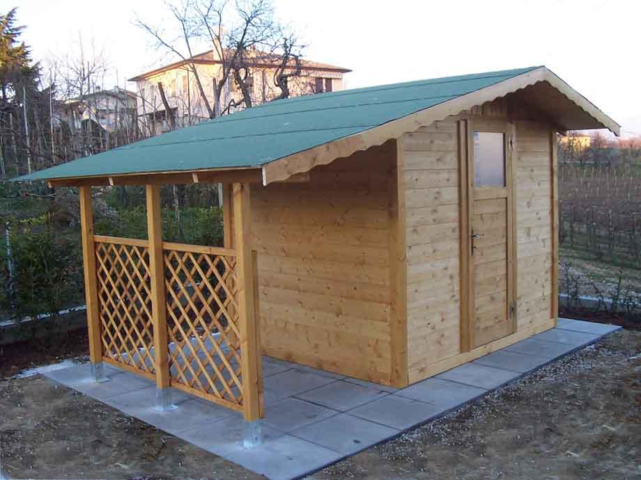 Casette da giardino in legno su misura edil legno for Casa con garage laterale