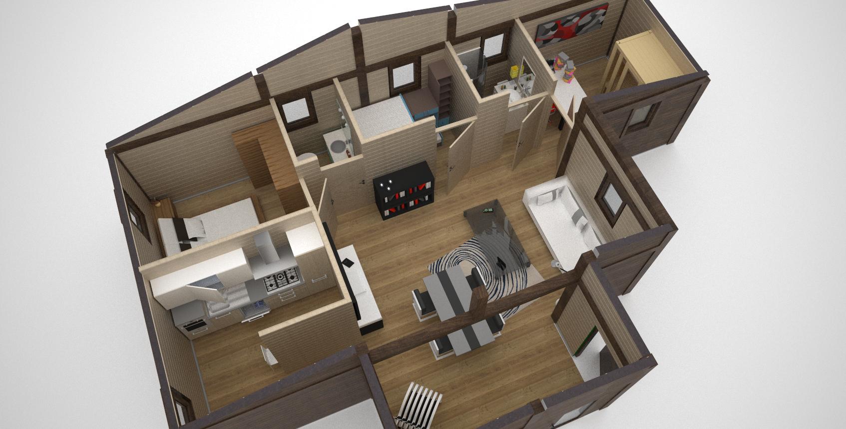 Bungalow in legno case abitabili in legno edil legno for Design interni case piccole