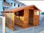 casetta 2x2 con tettoia e grigliato