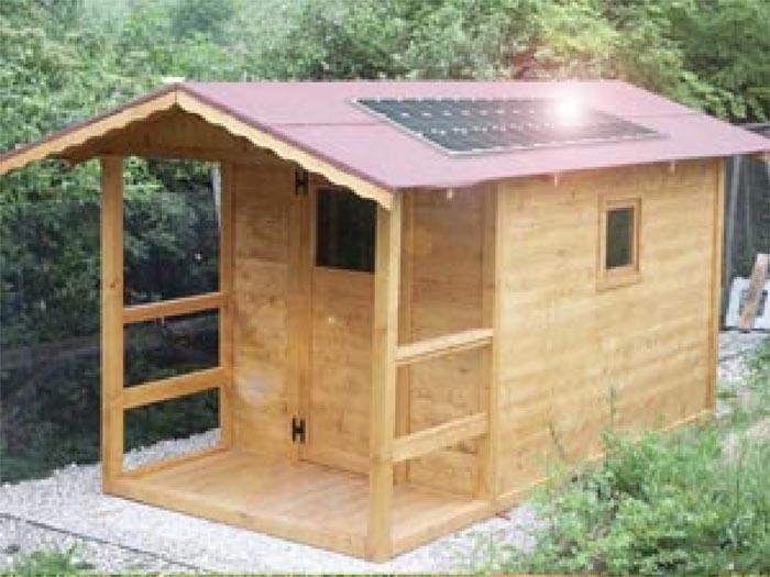 Pannelli solari da giardino come funzionano le lampade - Casa in legno su lastrico solare ...