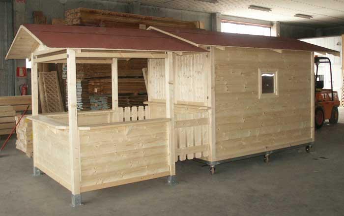 Edil legno for Casetta prefabbricata su ruote
