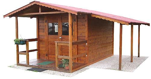 Edil legno for Garage con veranda