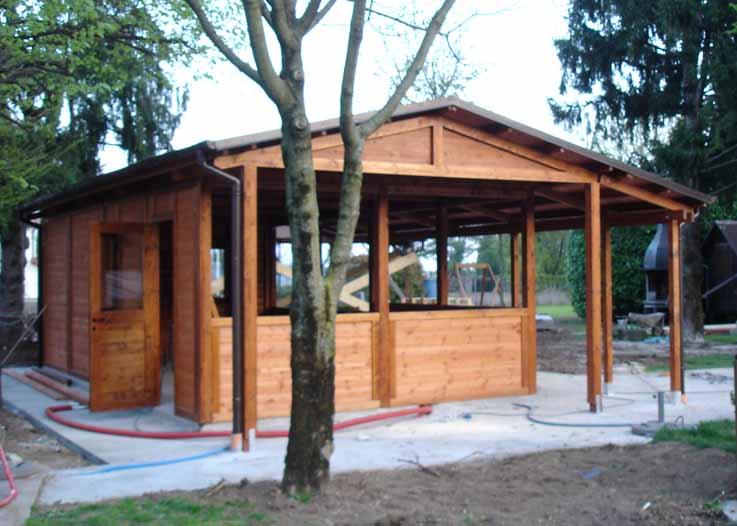 Casette da giardino in legno su misura edil legno - Verande da giardino in legno ...