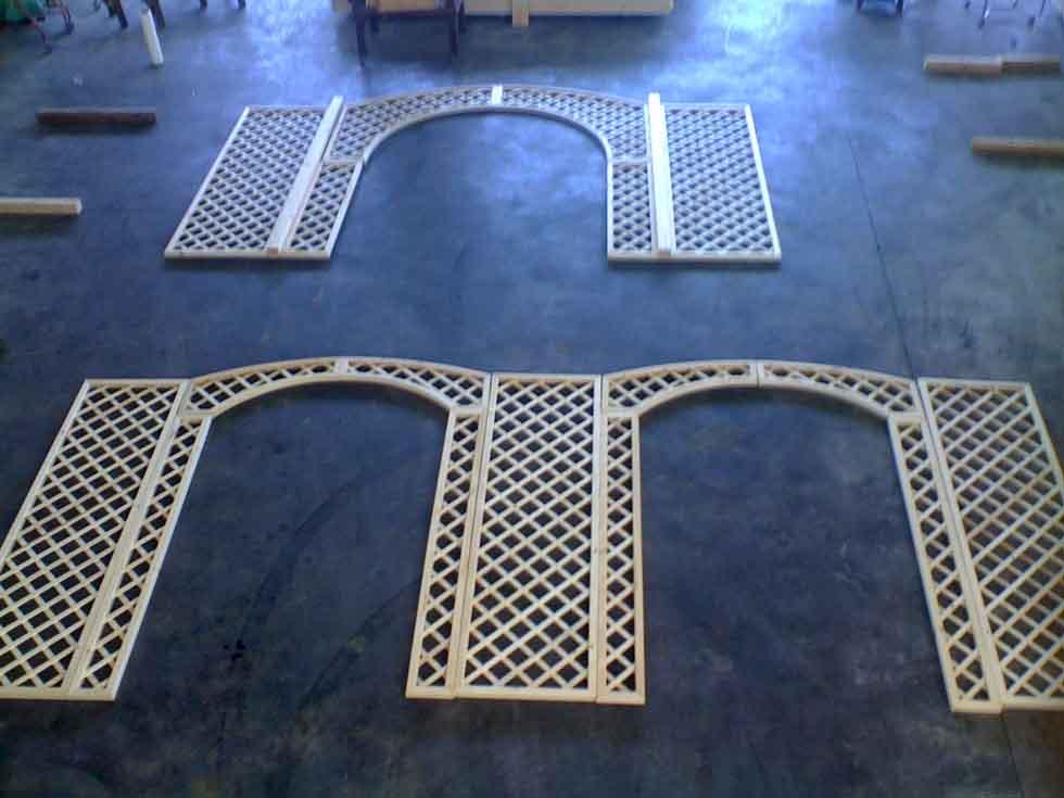 Modelli recinti in legno for Grigliato ad arco