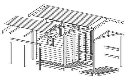 Casetta in legno progetto