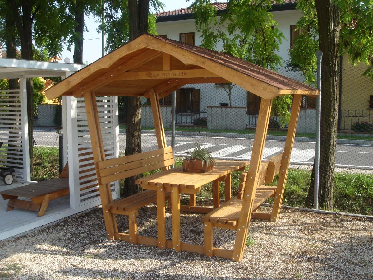 Modelli gazebo in legno for Gazebo in legno usato