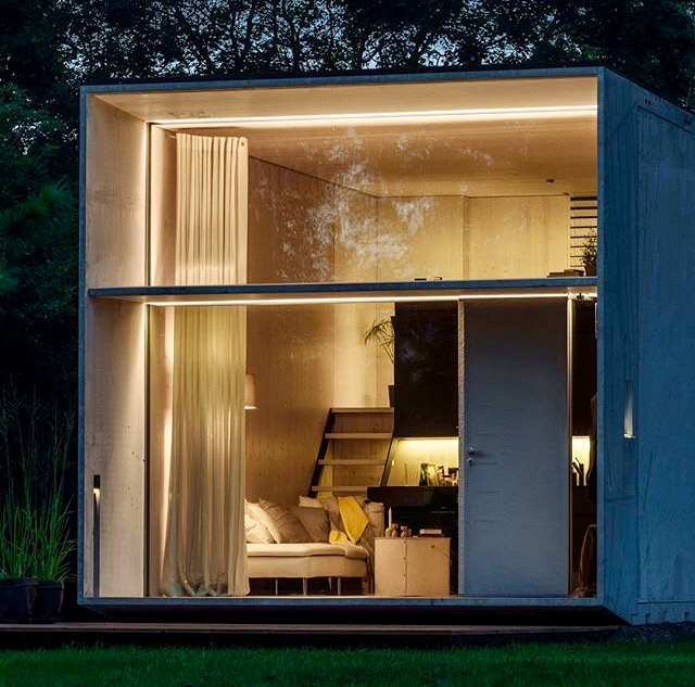 Bungalow in legno case abitabili in legno edil legno - Minibar per casa ...