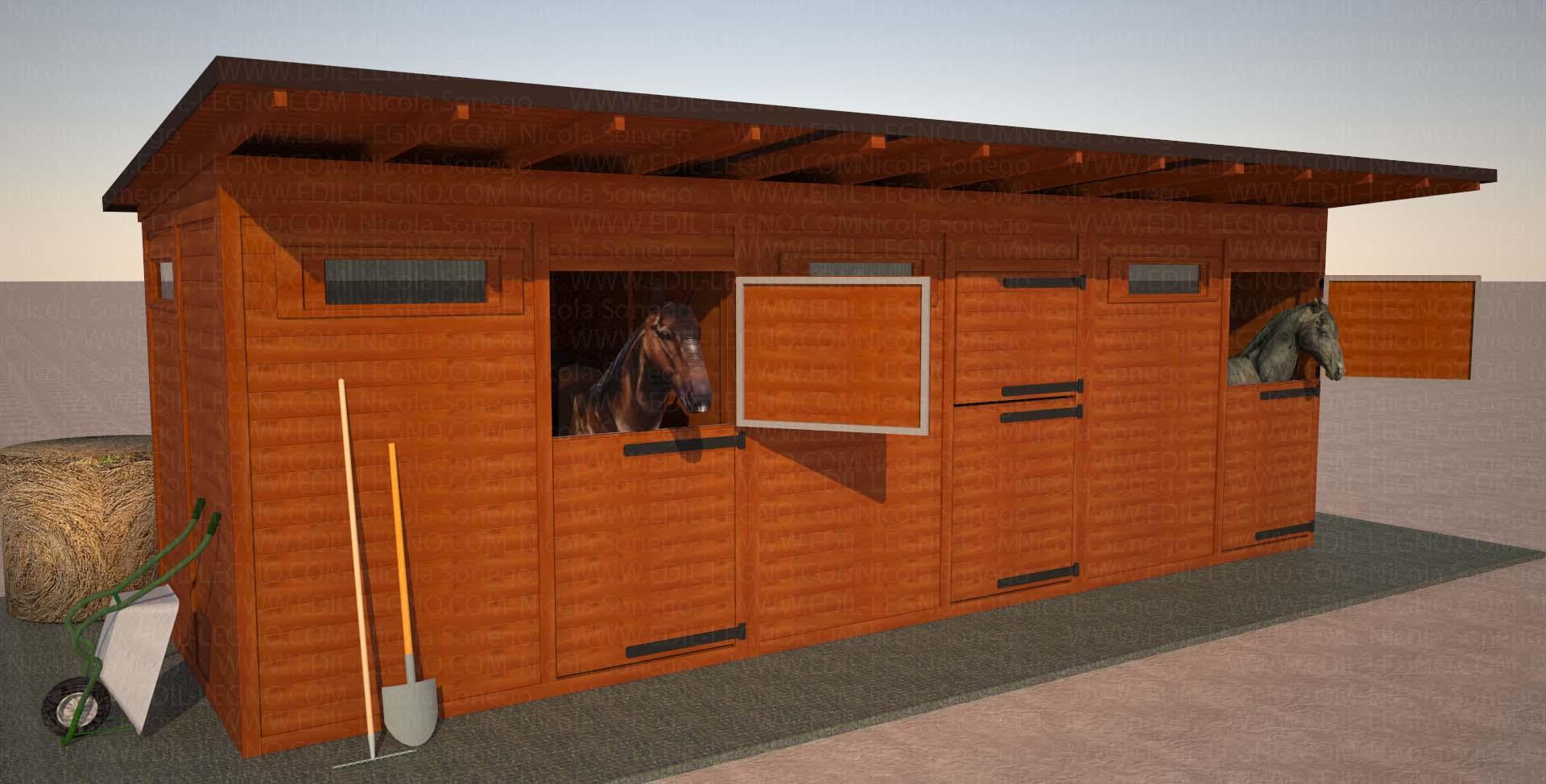 Casette da giardino in legno su misura edil legno for 3 box auto con abitazione