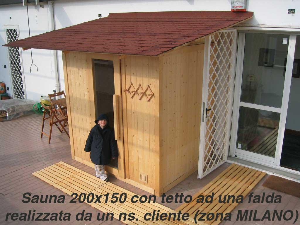 casetta in kit attrezzata per il benessere con sauna ed altri comfort, by Edil Legno