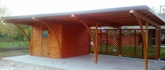 Modelli box auto in legno for Garage per auto modulari 3
