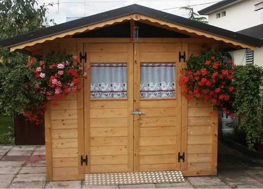 Casetta da giardino in legno 2.5x3 doppiaporta