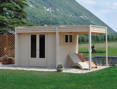 Casa moderna roma italy chioschi prefabbricati prezzi for Bricoman legno lamellare
