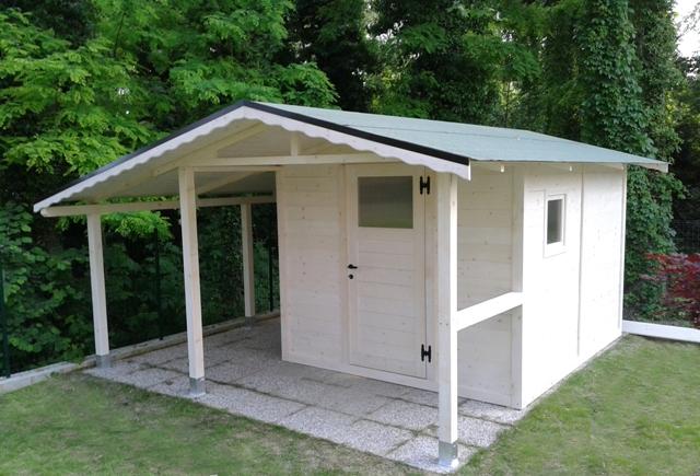 Casette da giardino in legno su misura edil legno for 2 piani di garage per auto con soppalco