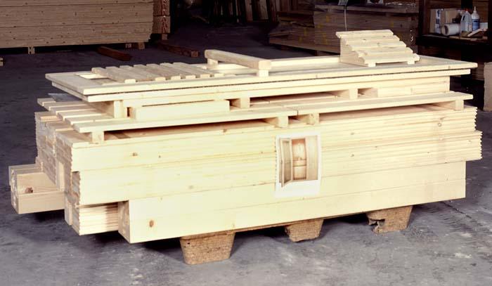 Kit di montaggio sauna prefabbricata in legno modulo d - Cabina bagno prefabbricata ...