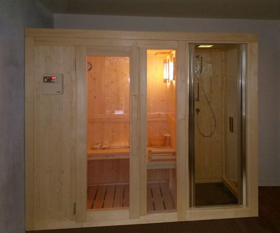 Cabine Doccia Sauna Combinate : Modelli sauna finlandese e sauna con bagno turco hammam in kit di