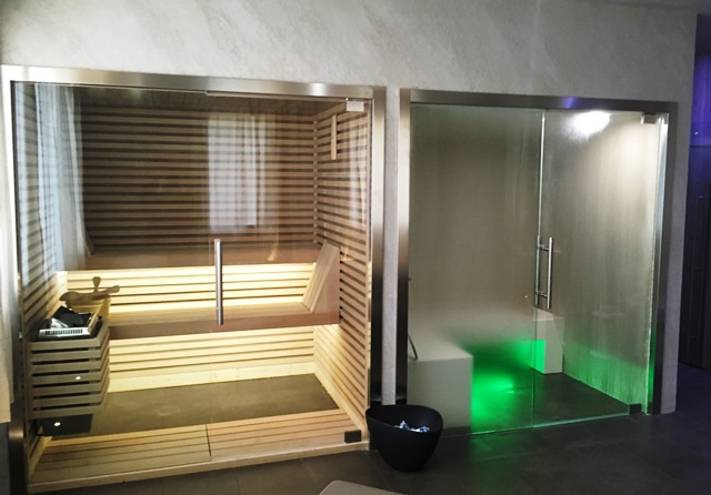 Modelli sauna finlandese e sauna con bagno turco hammam in kit di ...