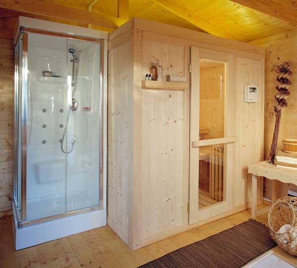 Casa benessere for Doccia sauna