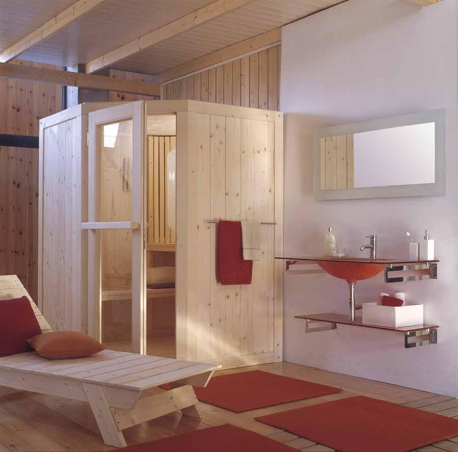 parete con isolamento hammam sauna combinata con generatore di vapore