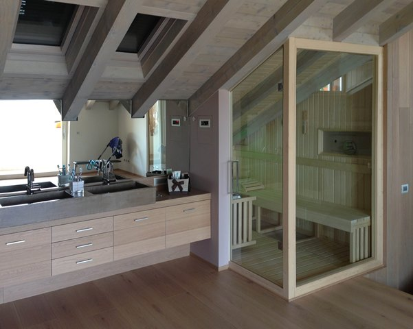 Bagno turco e sauna in casa body art